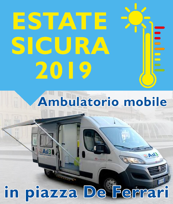 Estate sicura 2019: ambulatorio mobile in piazza De Ferrari - NEW